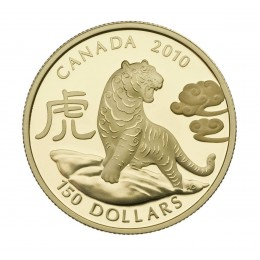 2010 Canada 18-karat Gold $150 Coin - Lunar Year of the Tiger