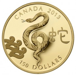 2013 Canadian $150 Year of the Snake - 18-karat Gold Coin