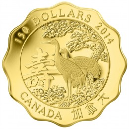 2014 Canadian $150 Blessings of Longevity - Pure Gold Coin