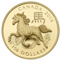 2014 Canadian $150 Year of the Horse - 18-karat Gold Coin