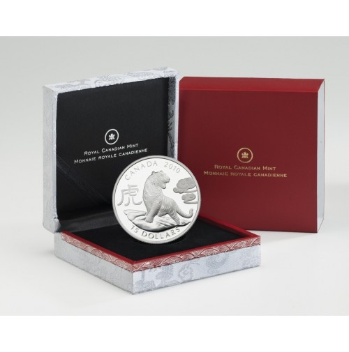 2010 Fine Silver 15 Dollar Coin - Year of the Snake