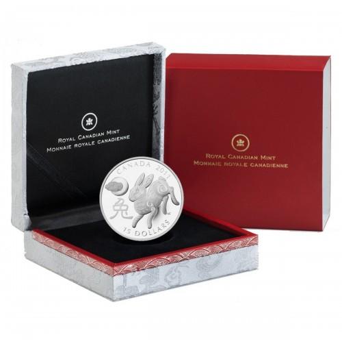 2011 Fine Silver 15 Dollar Coin - Year of the Rabbit