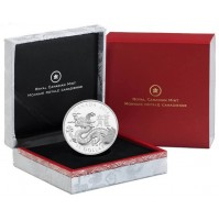 2012 Fine Silver 15 Dollar Coin - Year of the Dragon