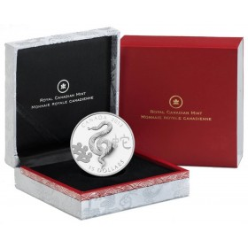 2013 Fine Silver 15 Dollar Coin - Year of the Snake