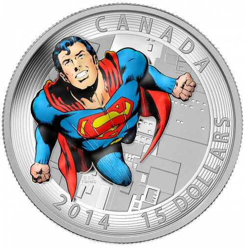 2014 Fine Silver 15 Dollar Coin - Iconic Superman Comic Book Covers: Action Comics