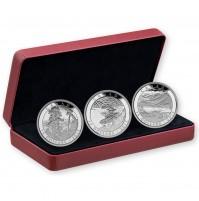2015 Canada Fine Silver 15 Dollar Coins - Carmichael 3-Coin Set