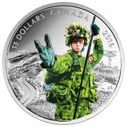 2016 Canadian $15 National Heroes: Military - Fine Silver Coin