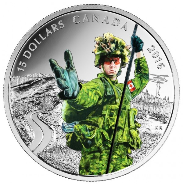 2016 Canada Fine Silver 15 Dollar Coin - National Heroes: Military
