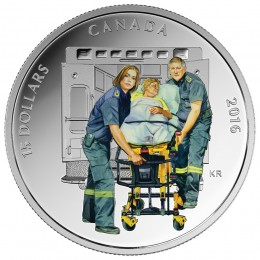 2016 Canadian $15 National Heroes: Paramedics - Fine Silver Coin