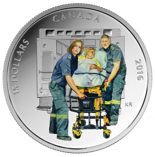 2016 Fine Silver 15 Dollar Coin - National Heroes: Paramedics