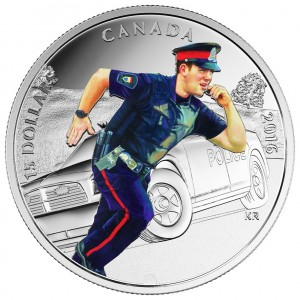 2016 Canada Fine Silver $15 Coin - National Heroes: Police