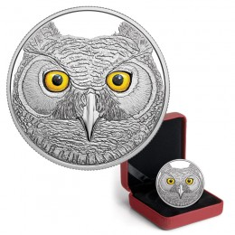 2017 Canadian $15 In The Eyes of the Great Horned Owl - Fine Silver Coin (Glow-In-The-Dark)