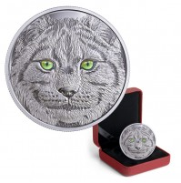 2017 Canada $15 In The Eyes of the Lynx - Pure Silver (Glow-In-The-Dark)
