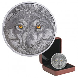 2017 Canadian $15 In The Eyes of the Wolf - Fine Silver Coin (Glow-In-The-Dark)
