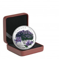2017 Canada Fine Silver 15 Dollar Coin - Celebration of Spring: Lilac Blossoms