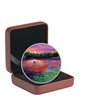 2017 Fine Silver 15 Dollar Coin - Great Canadian Outdoors: Sunset Canoeing