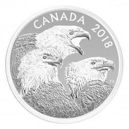 2018 Canadian $15 Magnificent Bald Eagles - 1 oz Fine Silver Coin