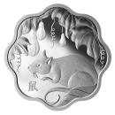 2020 Canadian $15 Lunar Lotus: Year of the Rat Scalloped-shaped Silver Coin