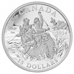 2014 Canadian $15 Exploring Canada: The Voyageurs - Fine Silver Coin