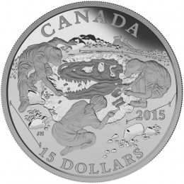 2015 Canadian $15 Exploring Canada: Scientific Exploration - Fine Silver Coin