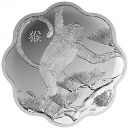 2016 Canadian $15 Lunar Lotus: Year of the Monkey Scallop-shaped Silver Coin