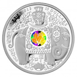 2013 Canadian $15 Maple Series: Maple of Peace - Fine Silver Hologram Coin