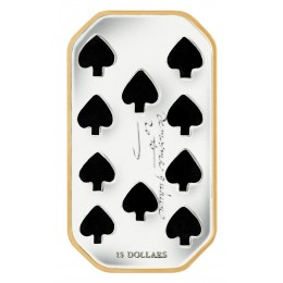 2009 Canada Sterling Silver $15 Coin - Playing Card Series: Ten of Spades
