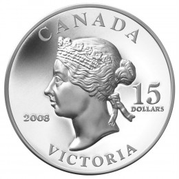 2008 Canada Sterling Silver 15 Dollar Coin - Vignettes of Royalty: Queen Victoria