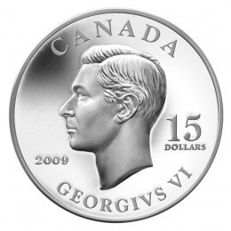 2009 Canada Sterling Silver $15 Coin - Vignettes of Royalty: King George VI-no outer box