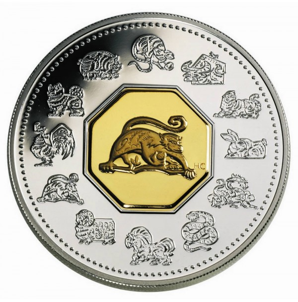 2004 Sterling Silver 15 Dollar Coin - Zodiac Series: Year of the Monkey