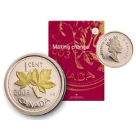 2003 Annual Report with Gold Plated 1 Cent Proof Coin