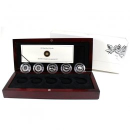 2012 Canadian 1-Cent Farewell To The Penny 5-Coin Silver Proof Set