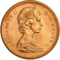 1973 Canadian 1-Cent Maple Leaf Twig Penny Coin (Brilliant Uncirculated)