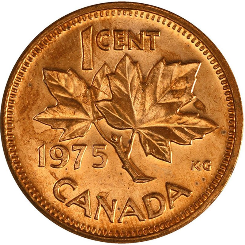 1968 CANADA 1 Cent Copper Penny Uncirculated