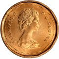 1988 Canadian 1-Cent Maple Leaf Twig Penny Coin (Brilliant Uncirculated)