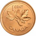 2002-P (1952-) Canadian 1-Cent Maple Leaf Twig/Queen's Jubilee Penny Original Coin Roll