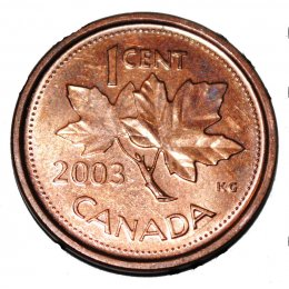 2003 Canadian 1-Cent Maple Leaf, New Effigy (Brilliant Uncirculated)