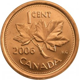 2006 Canadian 1-Cent Maple Leaf, RCM Logo (Brilliant Uncirculated)