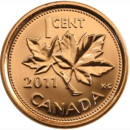 2011 Canadian 1-Cent Maple Leaf Twig Penny Coin (Brilliant Uncirculated)
