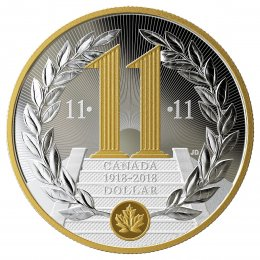 2018 (1918-) Canadian $1 Armistice of the First World War 100th Anniv Proof Silver Dollar Coin (Special Edition)