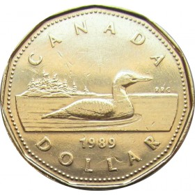 1989 Canadian $1 Common Loon (Brilliant Uncirculated)