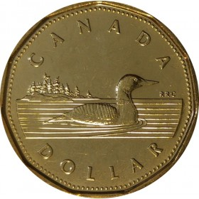 2002 (1952-) Canadian $1 Common Loon/Queen's Jubilee Dollar Coin (Brilliant Uncirculated)