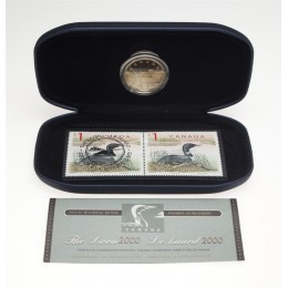 2000 Canada Special Millennium Edition $1 Coin & Stamp Commemorative Collection - Loon