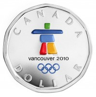 2010 Sterling Silver Dollar - Anticipating the Games, Vancouver 2010