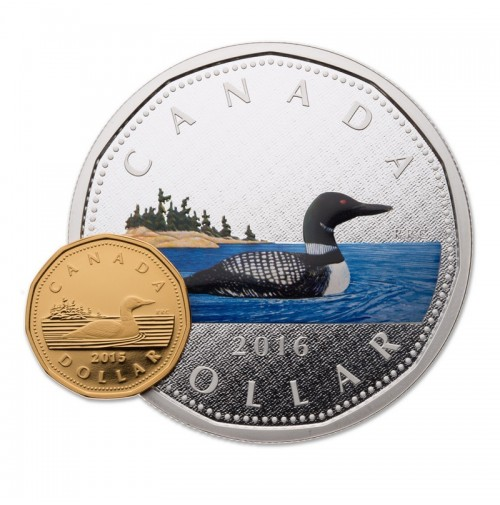 2016 Canada Big Coin Series 1 Dollar Loon 5 Oz Fine