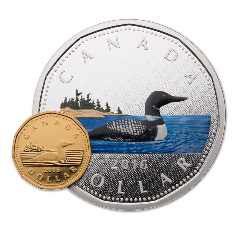 2016 Canada Fine Silver 5 Oz Coin Big Coin Series 1