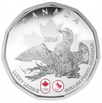 2016 Fine Silver Proof Dollar Coin - Lucky Loonie