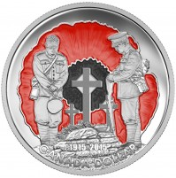 2015 Proof Fine Silver Dollar - In Flanders Fields, 100th Anniversary - Limited Edition