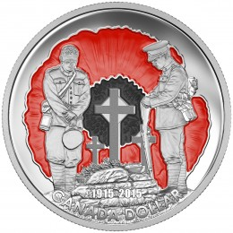 2015 Canadian $1 100th Anniversary of In Flanders Fields - Fine Silver Limited Edition Coin