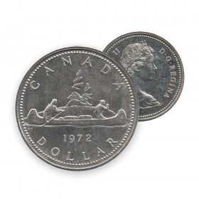 1972 Canadian $1 Voyageur Dollar Coin (Circulated)